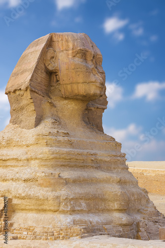 In de dag Egypte Great Sphinx. Giza, Egypt