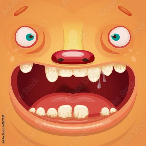 Aluminium Prints Creatures Monster Face
