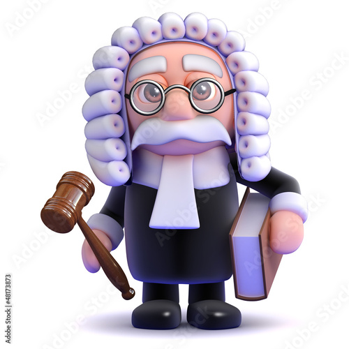 Fotografering  Judge with gavel and law book