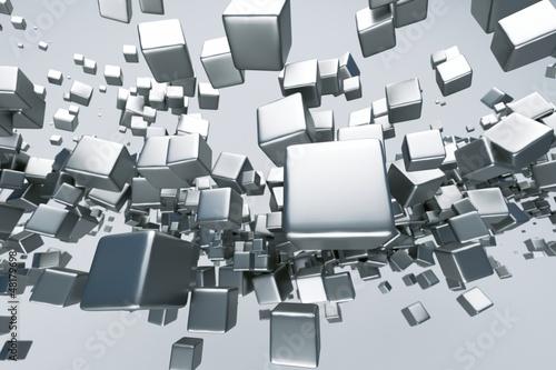 Fototapeta abstrakcyjne sześciany 3d