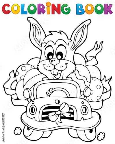 Spoed Foto op Canvas Doe het zelf Coloring book with Easter theme 7