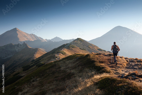Hiker in Tatra Mountains Poster
