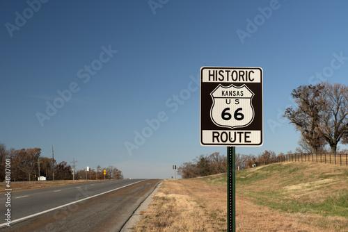 Papiers peints Route 66 Route 66, Kansas