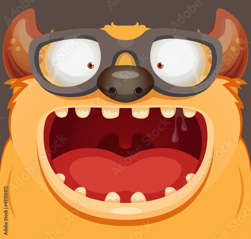 Monster With Glasses