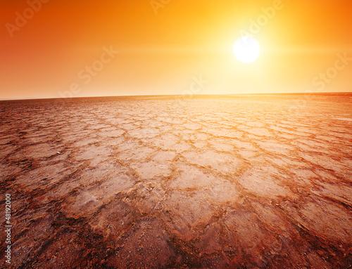 Poster de jardin Desert de sable Chott el Djerid