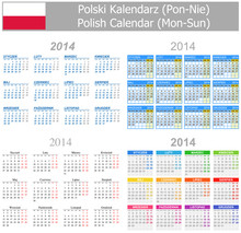 2014 Polish Mix Calendar Mon-Sun