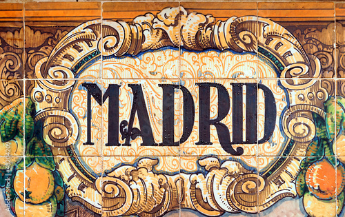 Deurstickers Madrid Madrid