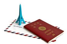 パスポートとエアエールの封筒