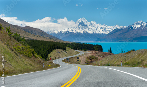Tuinposter Nieuw Zeeland Mt.cook South island New Zealand