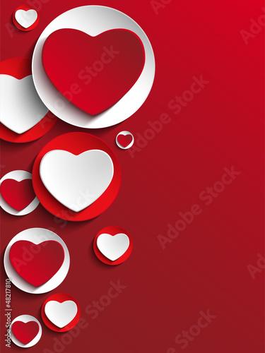 Fotografie, Obraz  Valentine Day Heart on White Button