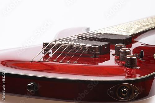 Obraz Red electric guitar - fototapety do salonu