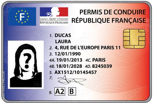 Photo  permis de conduire électronique 2013