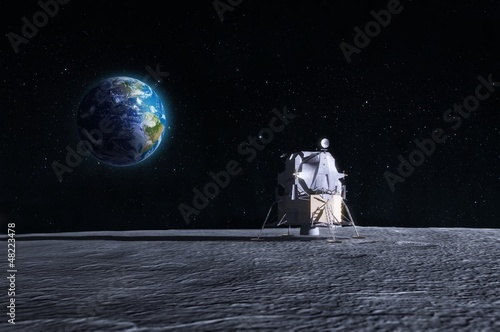 Moon landing Wallpaper Mural