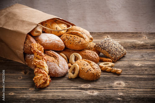 Foto op Canvas Brood Baked goods