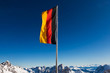 germany flag in mountains
