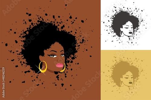 Fotobehang Vrouw gezicht Afro