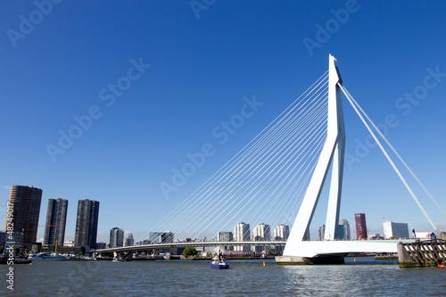 Deurstickers Rotterdam Erasmus bridge - Rotterdam