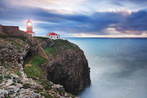 Fotografia, Obraz  Glowing beacon at Cape Sea. Portugal.