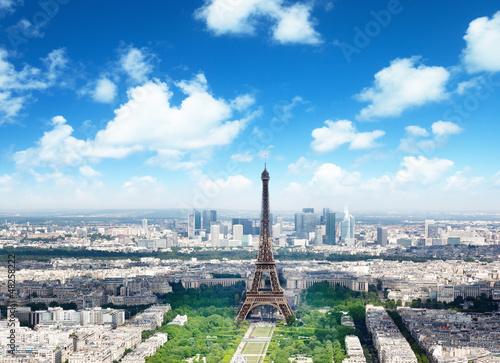 Poster de jardin Paris Eiffel tower in Paris, France
