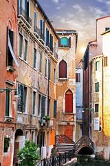 Panel Szklany Podświetlane Wenecja Venetian streets