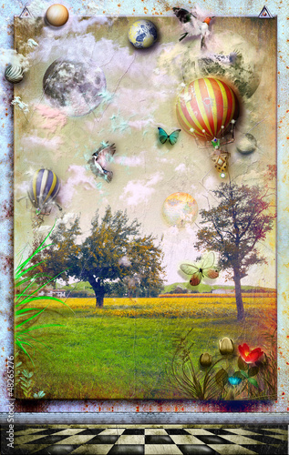 Canvas Prints Imagination Anywhere out of the world.Series