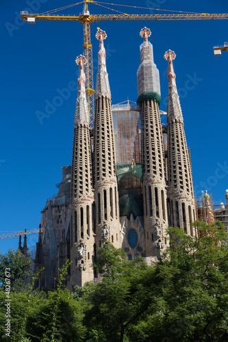 Papiers peints Barcelona BARCELONA SPAIN - OCTOBER 28: La Sagrada Familia - the impressiv
