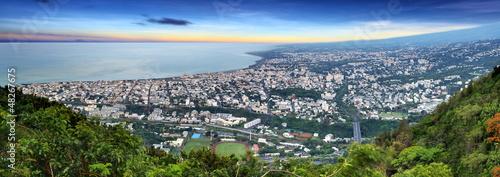 Panoramique de Saint-Denis de La Réunion.
