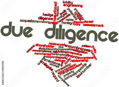 Fotografie, Obraz  Word cloud for Due diligence
