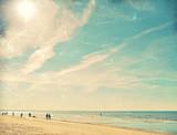 Tropical beach vintage background - 48268424