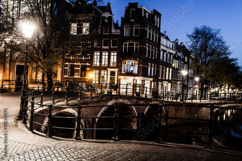 Photo  Amsterdam at night, The Netherlands