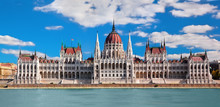 Hungarian Parliament In Budape...