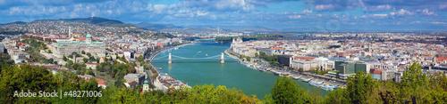 obraz PCV Budapeszt, Węgry. Widok z Góry Gellerta