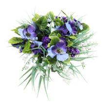 Artificial Flowers Lily Of The Valley, Viola, Forget-me