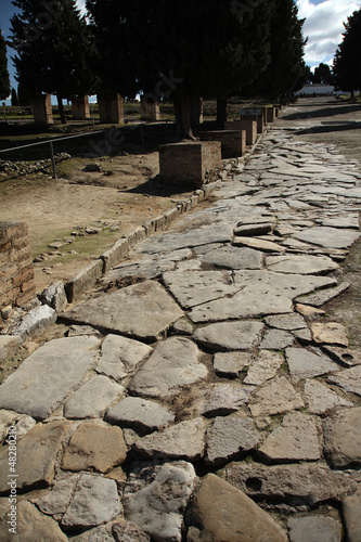 Fotografía  Yacimiento romano de Itálica, cardo máximo