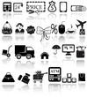 Shopping Website and Internet Icons. Vector EPS10