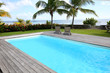 canvas print picture - Private swimming pool in tropical area