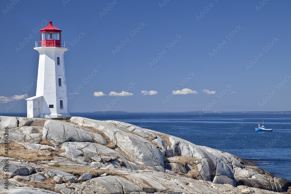 Fotografía Peggy\'s Cove lighthouse, Nova Scotia, Canada ...