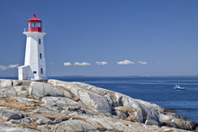 Peggy's Cove Lighthouse, Nova Scotia, Canada.