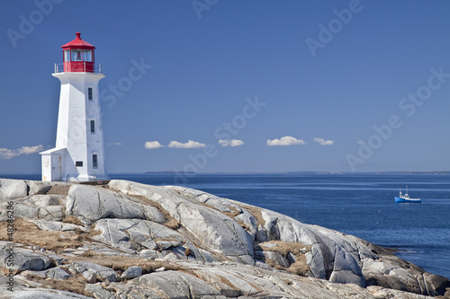 Foto op Canvas Canada Peggy's Cove lighthouse, Nova Scotia, Canada.