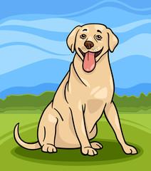 ilustracija crtanog psa labrador retriver