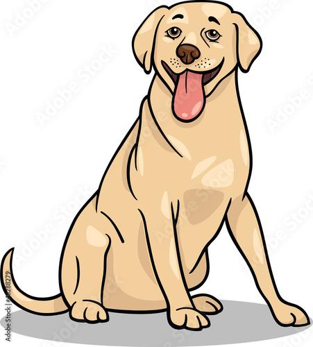 Poster Dogs labrador retriever dog cartoon illustration