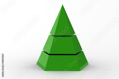business pyramid Canvas Print