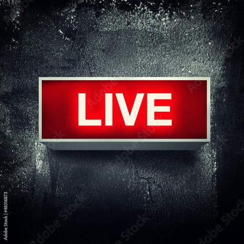 Live message Slika na platnu