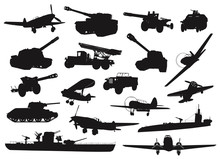 World War 2 Military Silhouett...