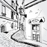 Sketch of an Old Street