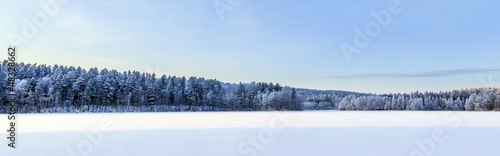 Winter lake panorama, Finland #48328662