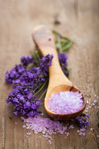 lavender salt for spa Poster