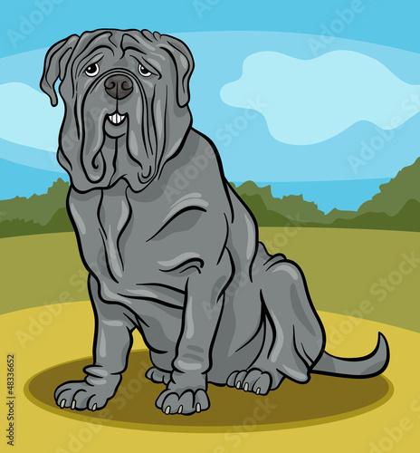 Poster Dogs neapolitan mastiff dog cartoon illustration