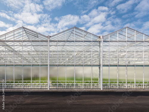 Canvas Print Front view of a new greenhouse