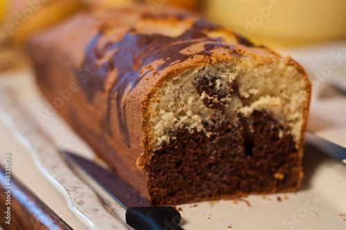Fotografie, Obraz  gâteau marbré au chocolat